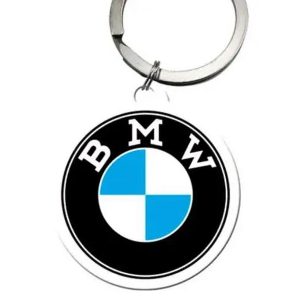 BMW round key chain